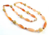 Vintage Scottish Style Faux Agate Bead Necklace.